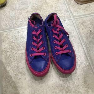 Converse purple &pink sneakers